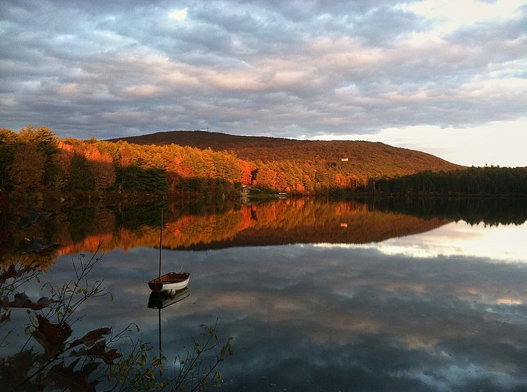 Cunningham Pond autumn sunset